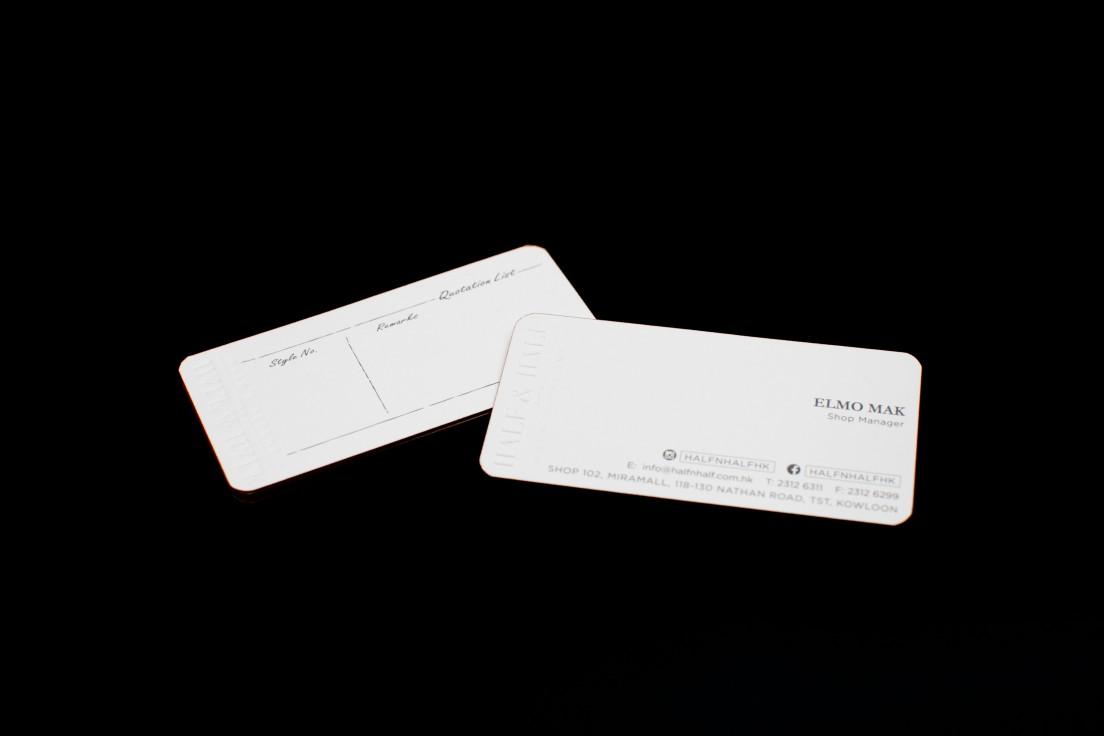 Half half business card design jt design studio half half business card design magicingreecefo Choice Image
